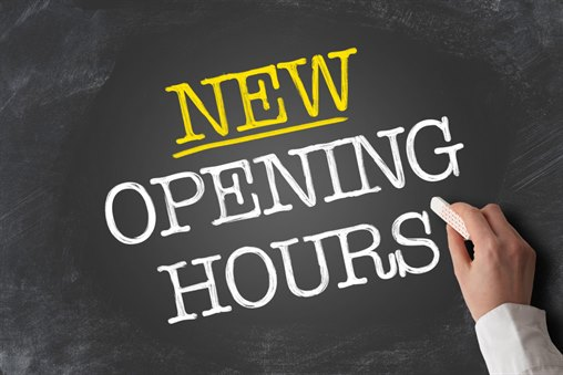 New opening hours from 1st July