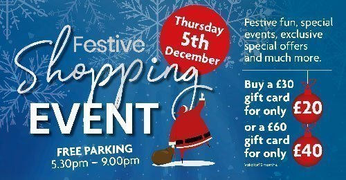 Special Shopping Evening - Thursday 5th December - 5.30pm - 9pm